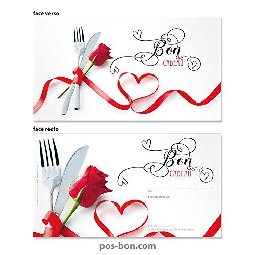 100 Bons cadeaux pour restaurants, bistrots, gastronomie G12021F