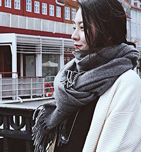 Écharpe Hommes Et Femmes Automne Et Hiver Épaississement Longue Section ImitationShawl Étudiant À Deux Usages Gardez Chaud Bib ( couleur : 7# ) # 11