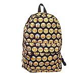 15d315ae0e TININNA Carino emoji tela Backpack Satchel Zaino Sacchetto di scuola  Daypack spalla Nero