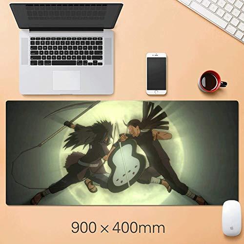 YUNYIN-Naruto Gaming-Mauspad - große Größe: 900 * 400 * 3mm-Farbe - Anime Nähte aus Gummi - Unterstützung für Computer, PC und Laptop