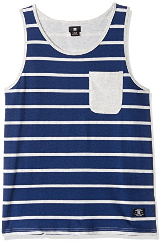 Mens Rib Knit Tanks (DC Men's Contra Tank Stripes Knit Top, Summer Blues, X-Large)