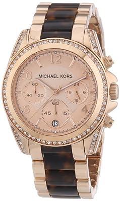 Michael Kors MK5859 - Reloj con correa de acero para mujer, color rosa / gris