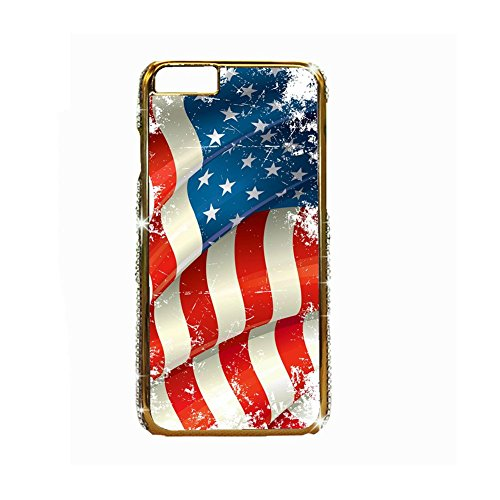 Babu Building Drucken American Flag Man Handytasche Pc Verwenden F¨¹r 5.5 iPhone 6 Plus Apple Licht (American Art Drei-licht)
