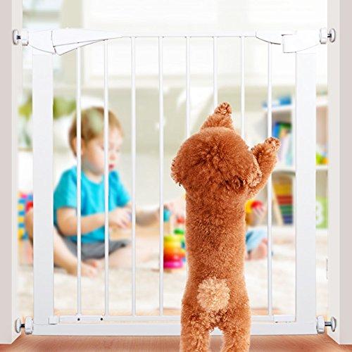 Barrière de sécurité Métal Chien/Chat/Porte Pour Animaux De Compagnie Pour Les Escaliers Doorway Intérieur Pression Monté Extra Large Baby Gates 77-126 Cm De Large (taille : 84-91cm)