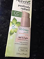 Aveeno Positively Radiant CC Cream Fair to Light 2. 5 oz. SPF 30