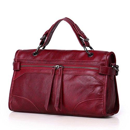 GUANGMING77 _ Borsetta Crossbody Bag Sacca A Doppio Scopo Materiale Portatile,Nero gules
