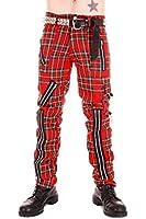 Tiger of London Red Tartan Zip Bondage Pants