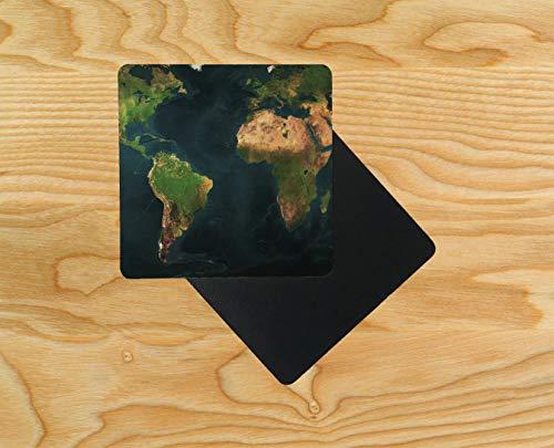 , Motiv Weltkarte, 95 x 95 mm, holz, mehrfarbig, 12er-Pack ()