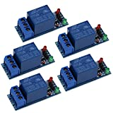 Tuankayuk 1-Kanal-5-V-Relais-Modul-Schild für Arduino 12802560ARM PIC AVR DSP, 5 Stück