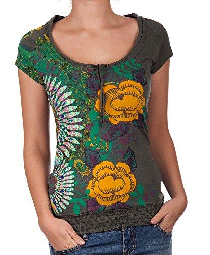 Desigual t-shirt pour femme multicolore cherain Vert - Musgo