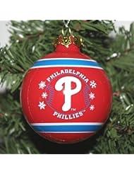Philadelphia Phillies 2011 Snowflake Glass Ball Ornement de Noël