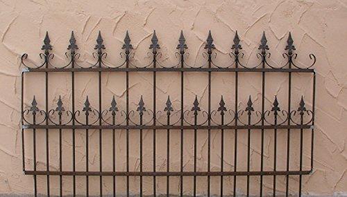 Schmiedeeisen Gartenzaun Zaun Metall Eisen Roma-Z100/200 Rost Roh Antik