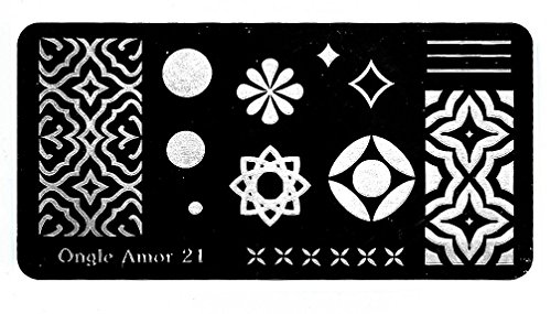 - Plaque de stamping N 21| ONGLE AMOR