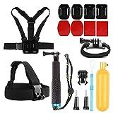 SHOOT 7in1 Outdoor-Reise-Zubehör-Kit für GoPro 7/6/5/4/3+/3/2 SJ4000 SJ5000 SJ6000 Kamera Zubehör Set