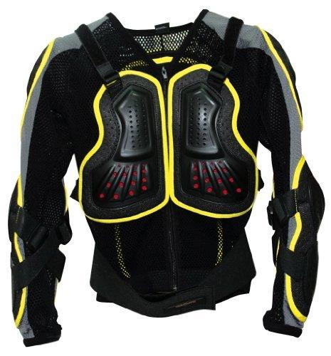 Bike It gp-pro Youth moto-x Displayschutzfolie Jacke Gelb Trim Medium/Large (vsps025) -