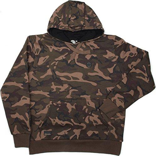 Fox Chunk Camo Lined Hoody Pullover, Angelpullover, Angelbekleidung zum Karpfenangeln, Pulli, Sweatshirt, Kapuzenpullover, Hoodie, Größe:L (Fox Hoody)