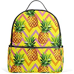 ALAZA Piña tropical Chevron Mochila para School Bookbag
