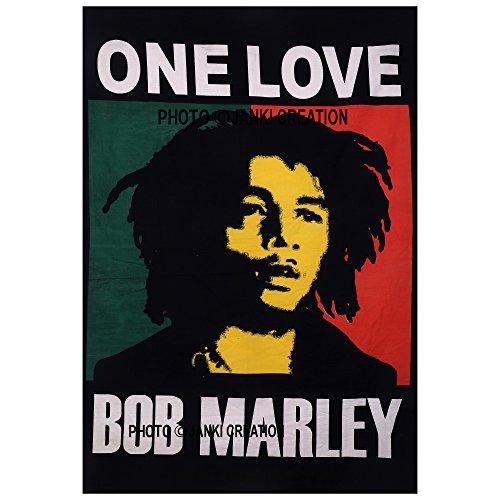 Wandbehang, Wandteppich, Tagesdecke, Baumwolle, Bob Marley One Love