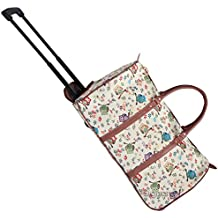Bolsa de viaje tapiz Signare con ruedas/Equipaje de viaje trolley de asa retráctil Búho