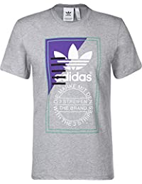 adidas Tongue Label 2 Camiseta, Hombre, Gris (brgrin), L