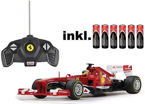 ferngesteuertes formel 1 auto RC Ferrari F1 1:18 Rennwagen ferngesteuert Version 2013 - inkl. Batterien - LIZENZ-Nachbau