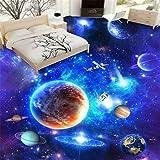 Pvc 3D Bodenbelag Cosmic Wohnzimmer Walkway Dimensional Malerei wasserdichte selbstklebende Tapete Papel De Parede, [Anpassen-Kontakt]