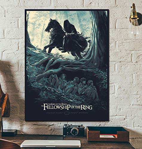 HULATANG Affiche du Film Le Seigneur des Anneaux Personnage de Science-Fiction fantôme Toile Peinture Murale Salon Couloir Bar Peinture décorative 42X60 cm sans Cadre