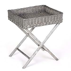 tischzusatz korb aus geflochtener weide tischbein aus holz vintage und exotisch. Black Bedroom Furniture Sets. Home Design Ideas