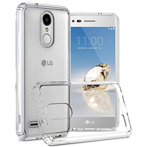 CoverON ClearGuard Serie LG Rebel 4 Case LG Phoenix 4 Hülle LG Aristo 3 Case LG Tribute Empire Slim Fit Hartschale mit TPU Drop Protection, Crystal Clear (Handy Virgin Mobile Lg)