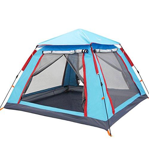 Wasserdicht Campingzelt Full-Automatic Zelt für 3-4 Personen zum Verreisen und Kampieren, mit Tragetasche