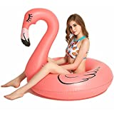 Best Floaties For Kids - Inflatable Flamingo Pool Float Raft [VICKEA] Large Outdoor Review
