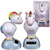 Dancing Unicorn Fonctionne à l'énergie solaire PAL figurine Ornement Bureau à domicile de voiture...