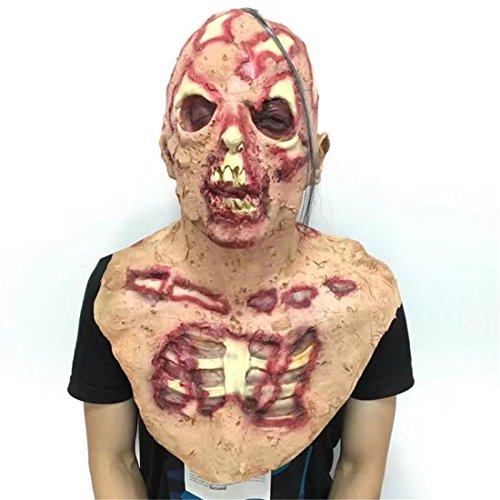 JJH-ENTER Kopfbedeckung Halloween Kammer des Schreckens Spukhaus Requisiten Terror Hohe Nachahmung Umweltschutz Emulsion Dämon Skelett (Leatherface Kind Maske)