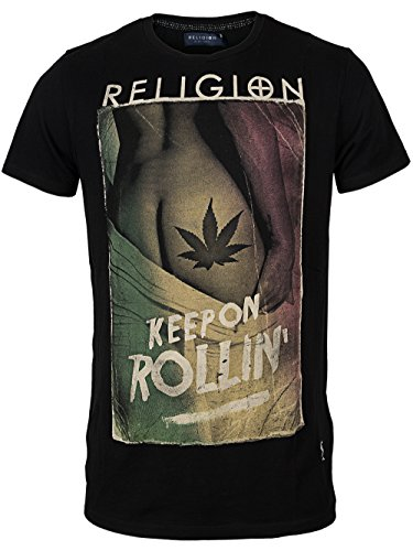 RELIGION Herren T-Shirt KEEP ON ROLLIN Schwarz
