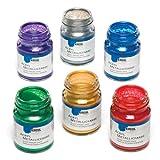 Metallic-Acrylfarben Zum Malen, Dekorieren und Verzieren von Bastelprojekten aus Keramik und Porzellan (Set mit 6 x 50 ml)