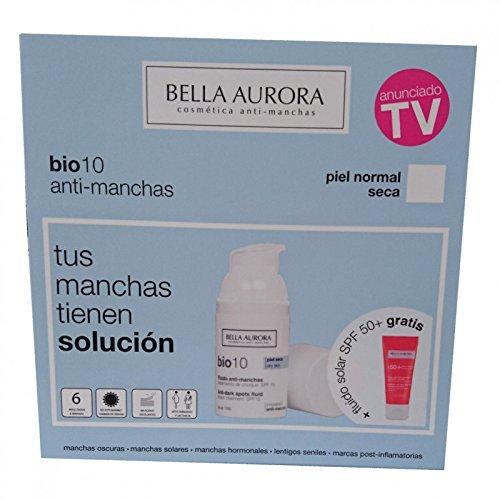 BELLA AURORA SET BIO10 ANTIMANCHAS P.NORMAL-SECA + FLUIDO SOLAR SPF 30 GRATIS