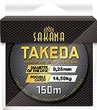 York Fitness Angelschnur SAKANA TAKEDA 0,14-0,40mm 150m Spule Monofile 0,03€/m (0,25mm)