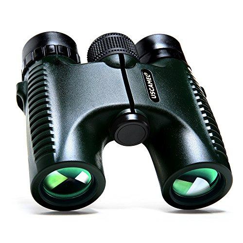 USCAMEL® HD 10x26 Prismáticos Militar Binoculars Rango larga verde de 5.000 metros Profesional Telescopio plegable impermeable Amplio Ángulo de Visión Caza compacto tamaño de bolsillo
