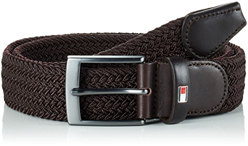 Tommy Hilfiger Adan Belt, Cintura Uomo, Marrone (Brown 211), 90 (Taglia Produttore:90)
