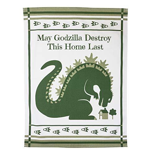 getDigital Geschirrtuch May Godzilla Destroy This Home Last - Saugstarkes Küchen-Tuch mit Godzilla Motiv - Geschirrhandtuch aus 100% Baumwolle (Filme Original Godzilla)