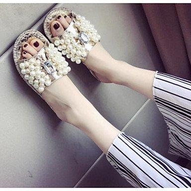 zhENfu Women's Sandals Summer Slingback PU Casual Fuchsia Gold