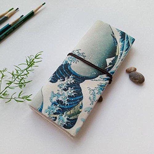 WRITIME Großhandel Federmäppchen Federmappen Inhaber Pen Pen Pen Leinwand große Kapazität Pen Tasche Rollerball Tasche Mäppchen mit Löcher Stifte Tasche EIN