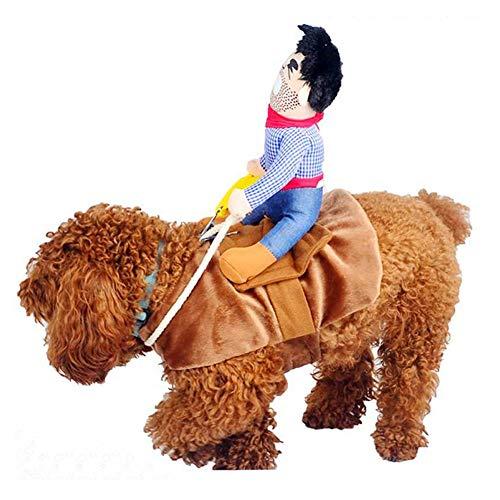Haustier Kostüm Pet Anzug Cowboy Rider Stil Hund Halloween-Kostüm Pet Funny Kleidung, L ()