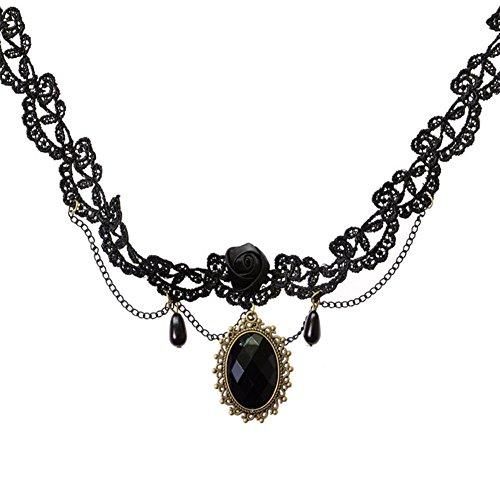 Outflower Nuevo Simple Elegante Collar de Encaje de la Personalidad Señoras de Terciopelo de Encaje Diseño Clásico Collar Gótico