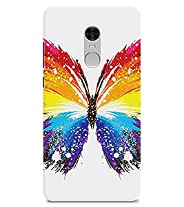 Chiraiyaa Designer Printed Premium Back Cover Case for Mi Redmi Note 4 (butterfly titli colorful) (Multicolor)