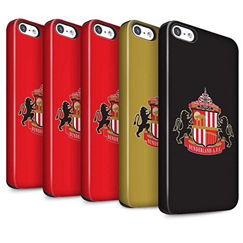 Offiziell Sunderland AFC Hülle / Matte Harten Stoßfest Case für Apple iPhone 5/5S / Pack 6pcs Muster / SAFC Fußball Crest Kollektion Pack 6pcs