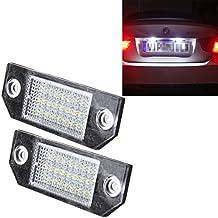 Bombilla de coche Luz de matrícula de 2 piezas con 24 lámparas SMD-3528 para