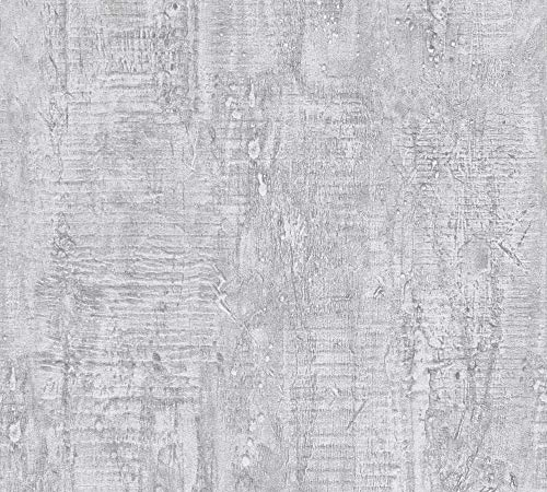 Schöner Wohnen Vliestapete in Vintage Beton Optik Industrial Loft Style 10,05 m x 0,53 m grau Made in Germany 944265 94426-5
