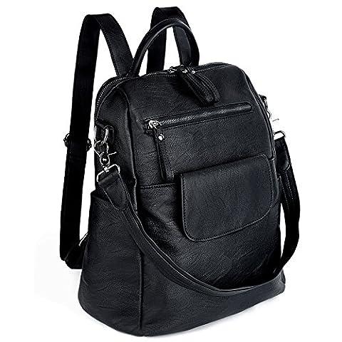 UTO Women Backpack 3 way PU Leather Ladies Girls Rucksack Shoulder Travel School Bags - Pelle Cartella Sottile