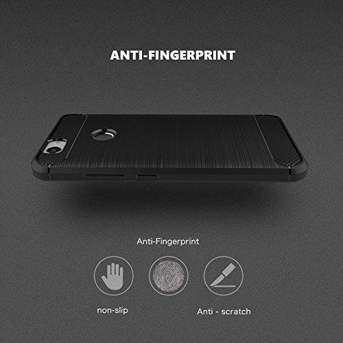EGO Mobile bc_armor_iph_7_plus Schutzhülle für Apple iPhone 7 Plus Carbon Design schwarz Black